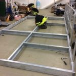 2 - dry run, settingup the platform frame in the OSS workshop