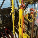 3 - Rigging a large cylinder in place in the drill tower (2)