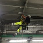 DanTysk 12 technicians installing 2 x work platforms in the HV rooms