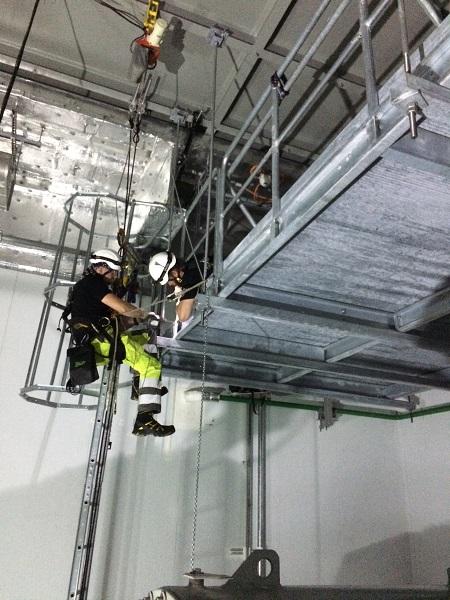 DanTysk 12 technicians installing 2 x work platforms in the HV rooms
